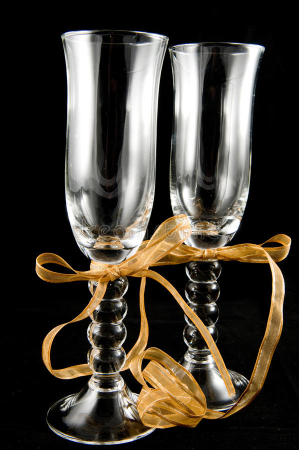 champagneexponeringsglas royaltyfria foton
