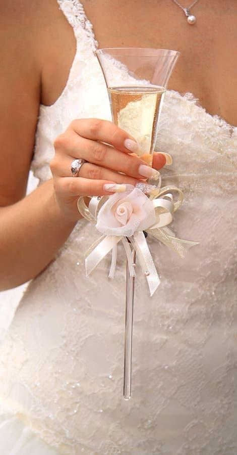 champagneexponeringsglaswine royaltyfri fotografi