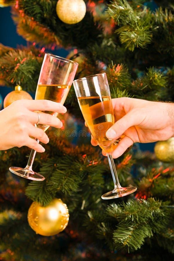 champagneflöjter arkivbild