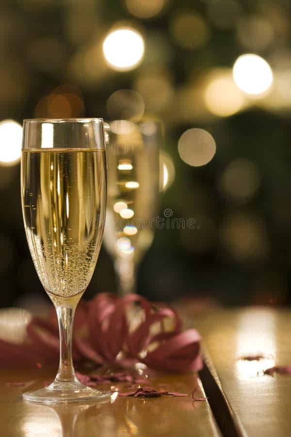 champagneflöjter arkivbilder