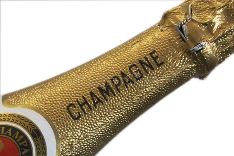 champagnehals royaltyfri fotografi