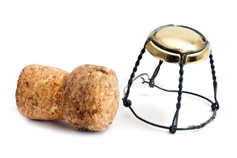 champagnekorkwine royaltyfri foto