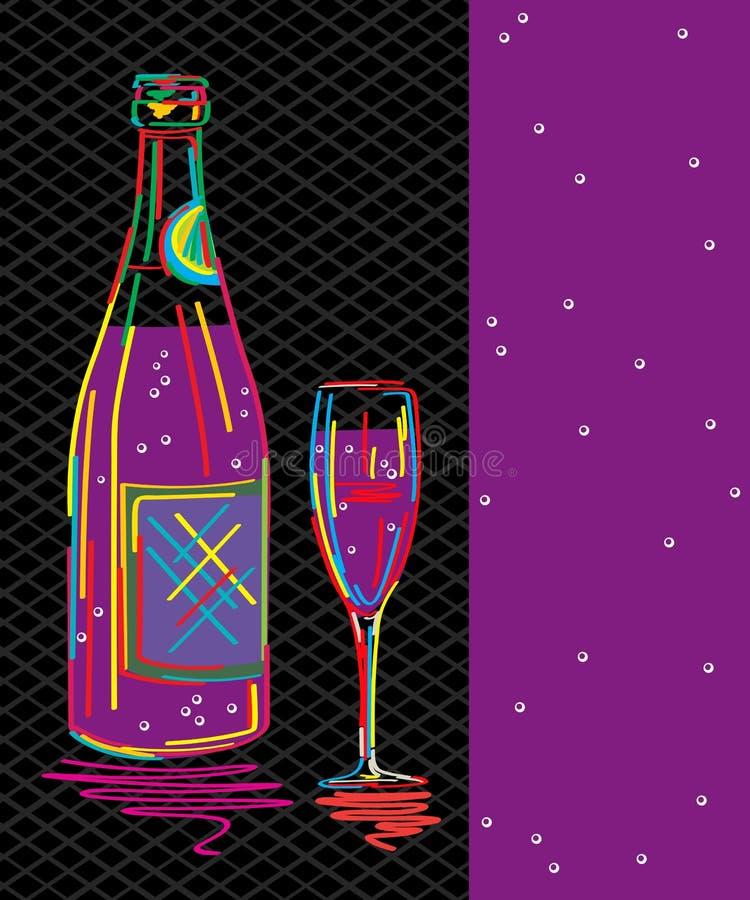 Download Champagnekort vektor illustrationer. Illustration av illustration - 27287859