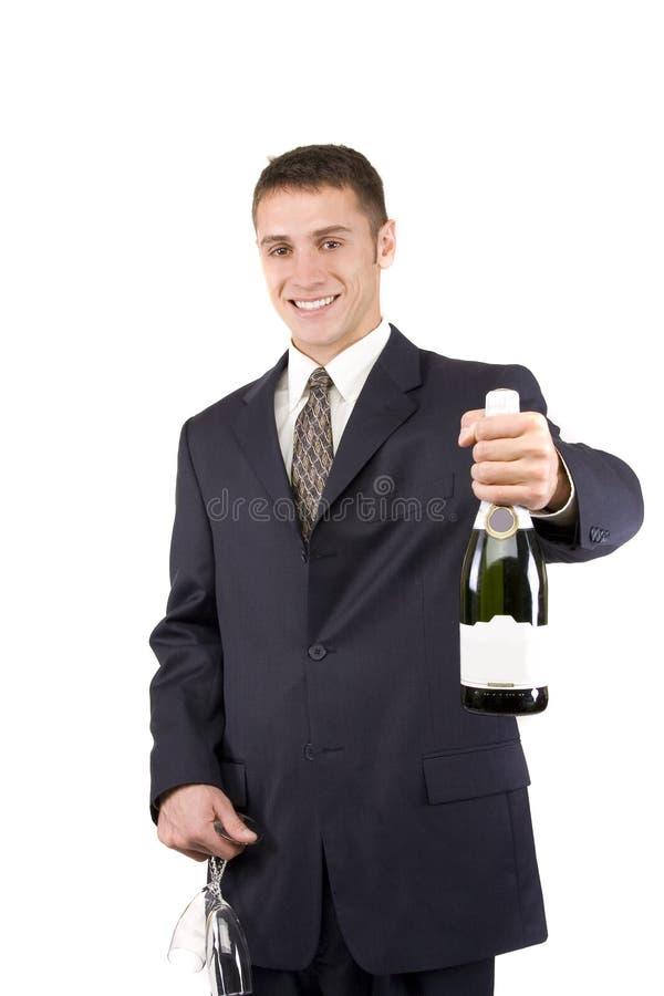 champagneman arkivbild