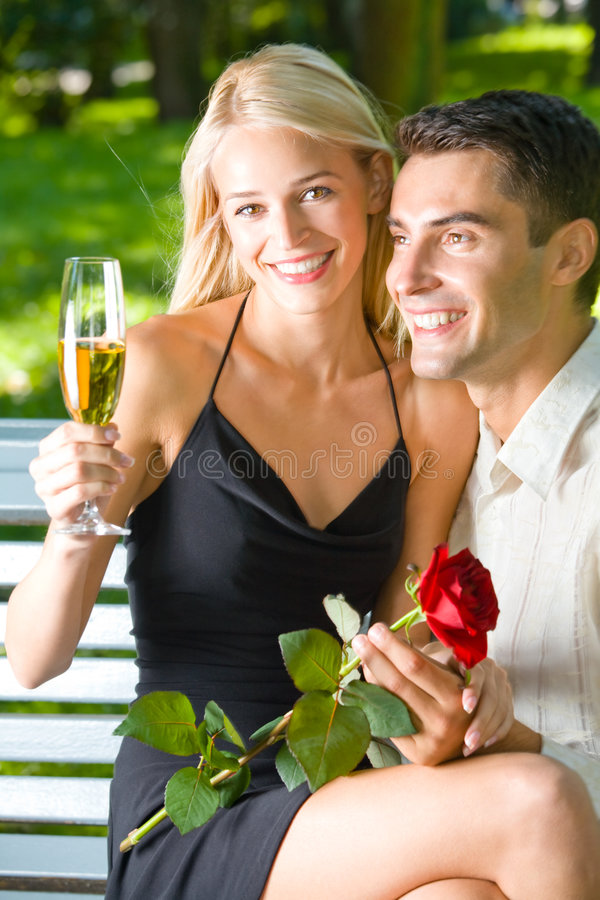 champagnepar royaltyfri bild