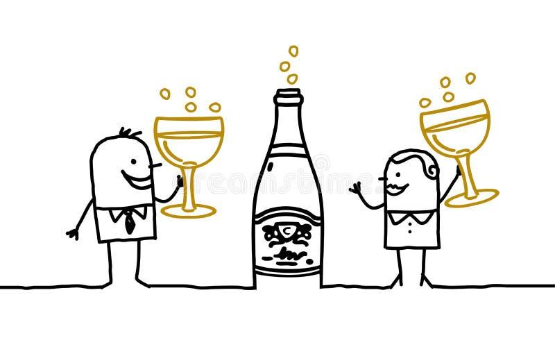 champagnepar stock illustrationer