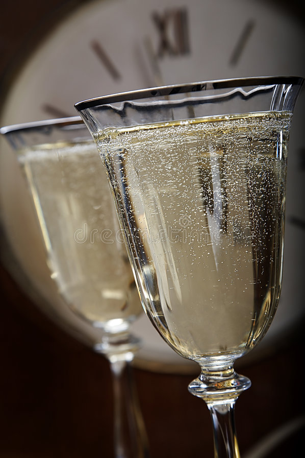 Champagner des neuen Jahres stockfotografie
