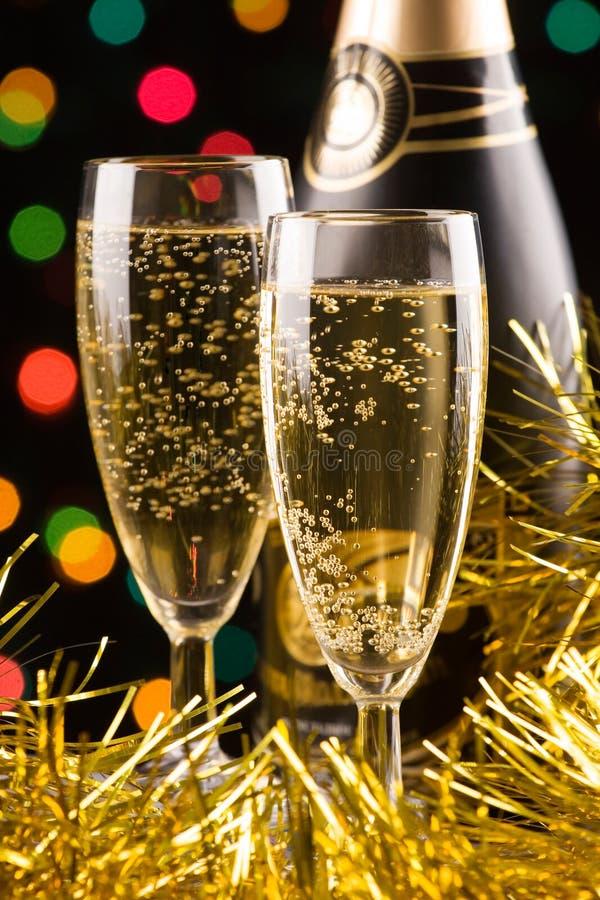 Champagner des neuen Jahres lizenzfreie stockbilder