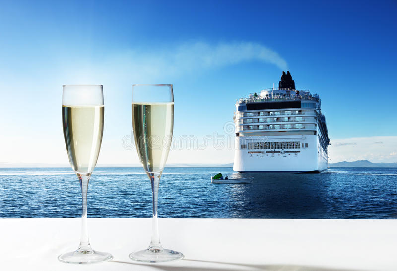 Download Champaign and  cruise ship stock photo. Image of large - 35438200