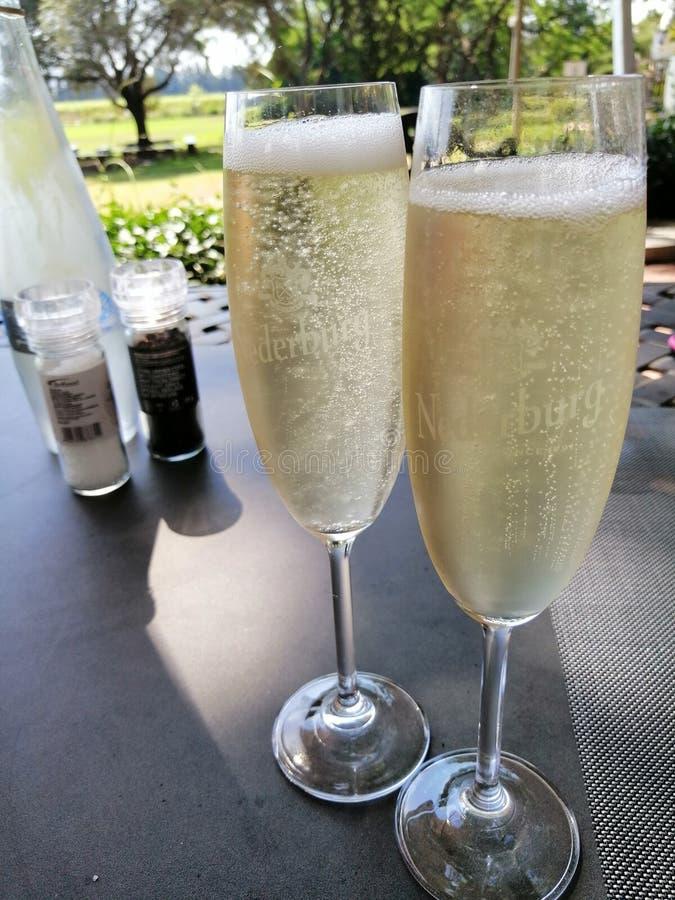 Champaign-fluiten royalty-vrije stock afbeeldingen