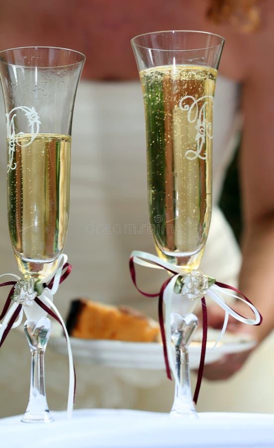 champan γυαλί στοκ φωτογραφία