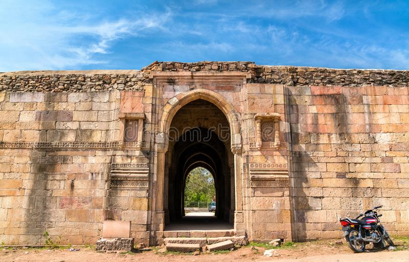Champaner-Pavagadh考古学公园的-古杰雷特,印度Mandvi海关 库存图片
