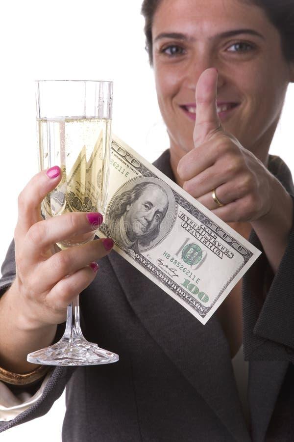 Champanhe bebendo da mulher fotos de stock