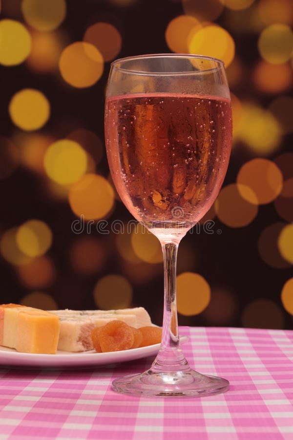 Champanhe cor-de-rosa foto de stock