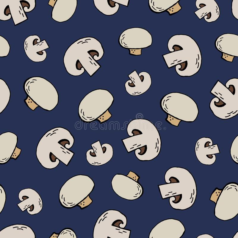 Champignon pattern vector illustration