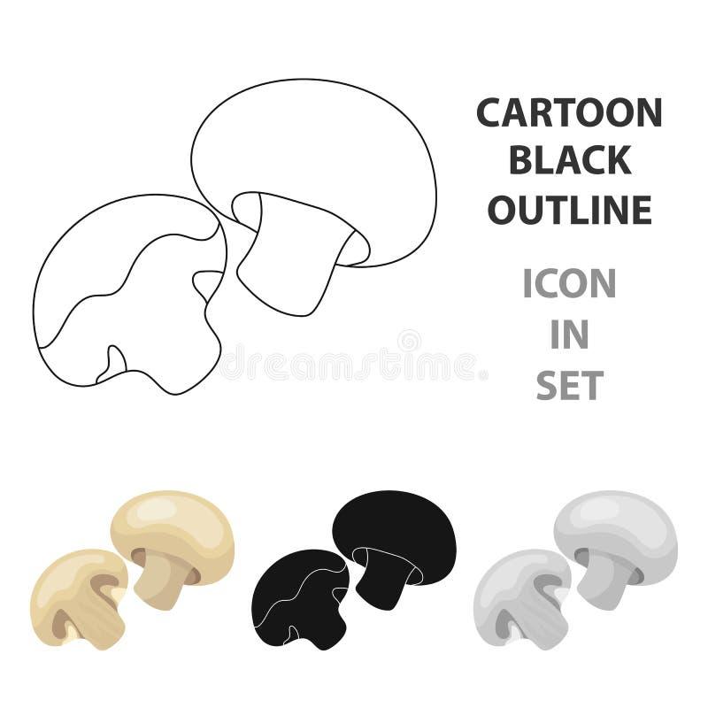 Champignon.BBQ single icon in cartoon style vector symbol stock illustration web. Champignon.BBQ single icon in cartoon style vector symbol stock illustration vector illustration