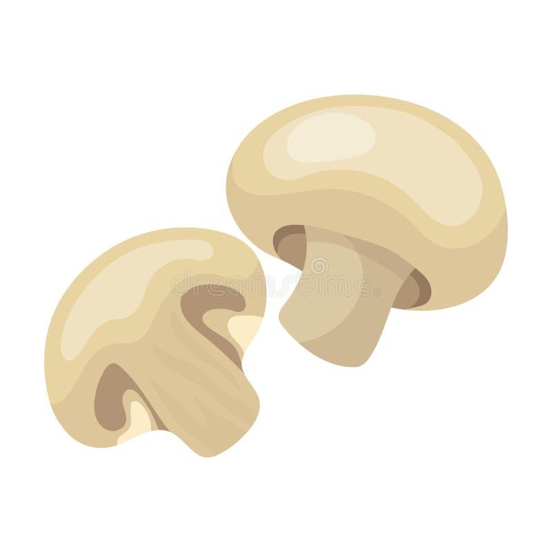 Champignon.BBQ single icon in cartoon style vector symbol stock illustration web. Champignon.BBQ single icon in cartoon style vector symbol stock illustration stock illustration