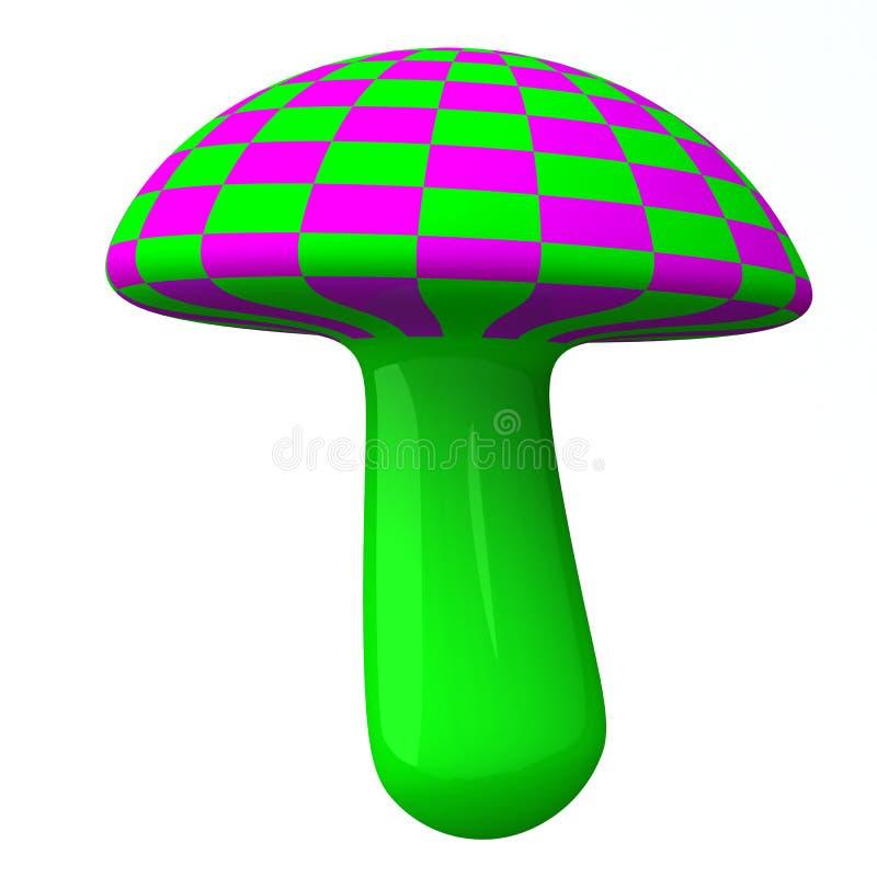 Champignon de couche coloré magique 3d illustration de vecteur