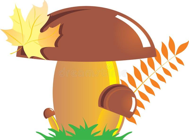 Champignon de couche d'automne illustration de vecteur