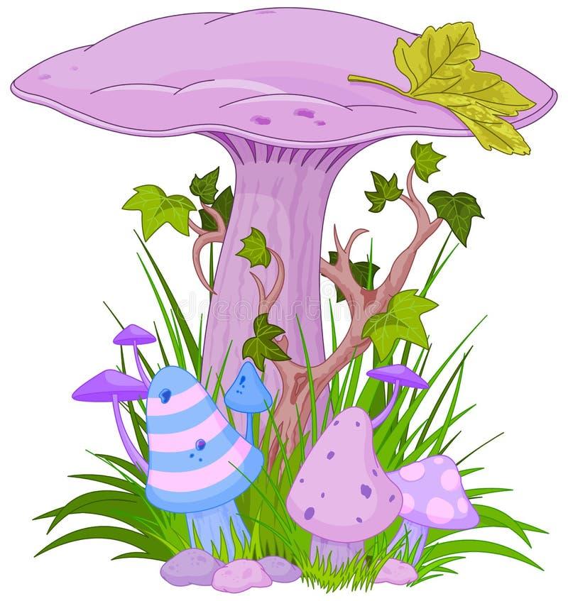 Champignon magique illustration stock