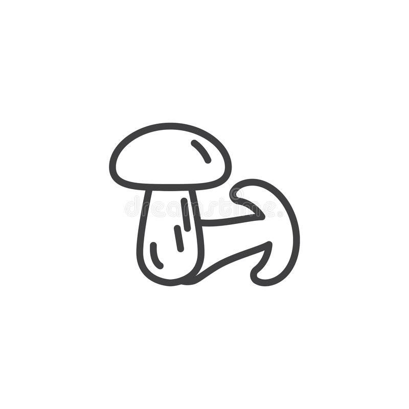 Champignon mushrooms line icon. Linear style sign for mobile concept and web design. Mushrooms outline vector icon. Symbol, logo illustration. Vector graphics vector illustration