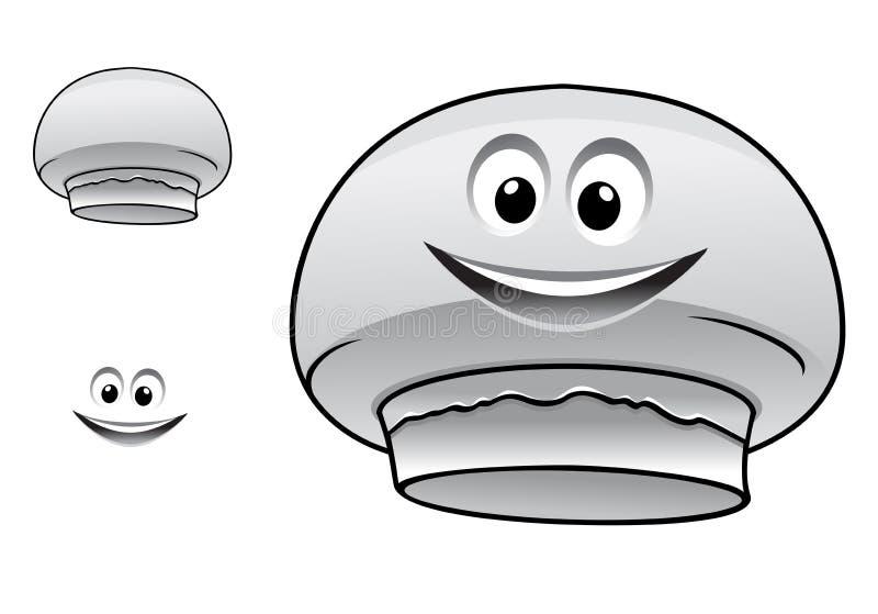 Champignon-Pilzcharakter der Karikatur glücklicher netter lizenzfreie abbildung