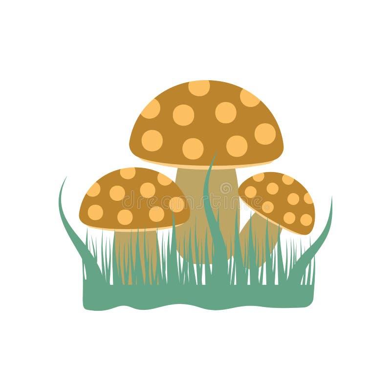 Champignons de couche Élément d'illustration colorée d'automne pour les apps mobiles de concept et de Web L'illustration détaillé illustration de vecteur
