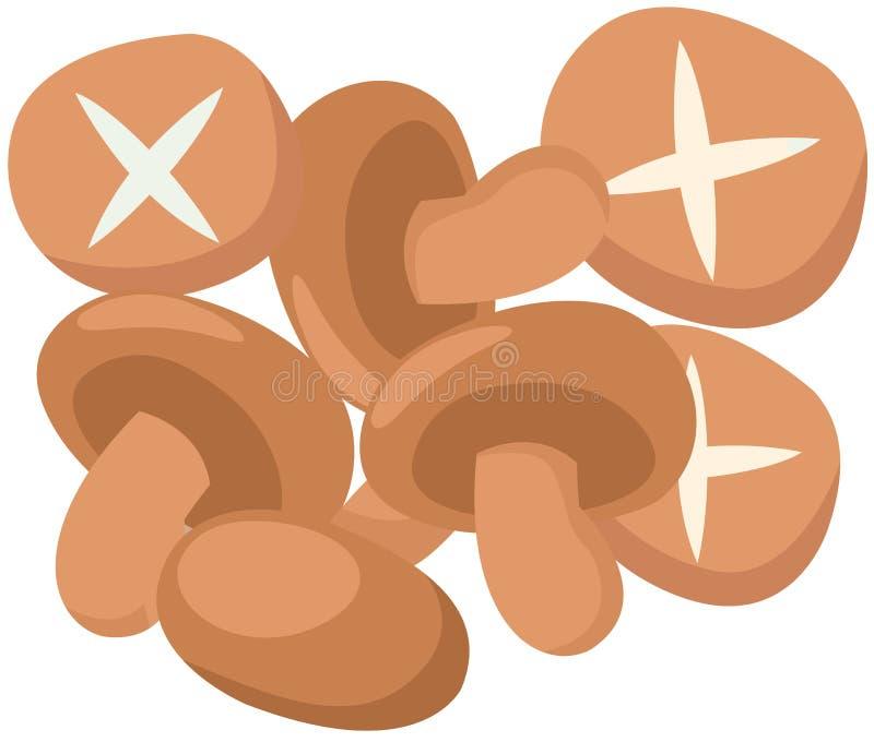 Champignons de couche illustration stock