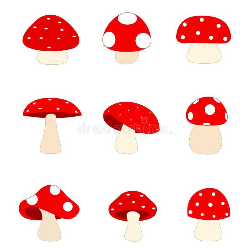 Champignons de couche/champignon de couche illustration libre de droits