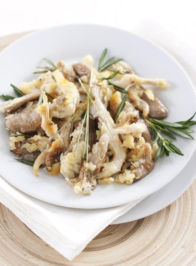 Champignons de couche d'huître frits image libre de droits