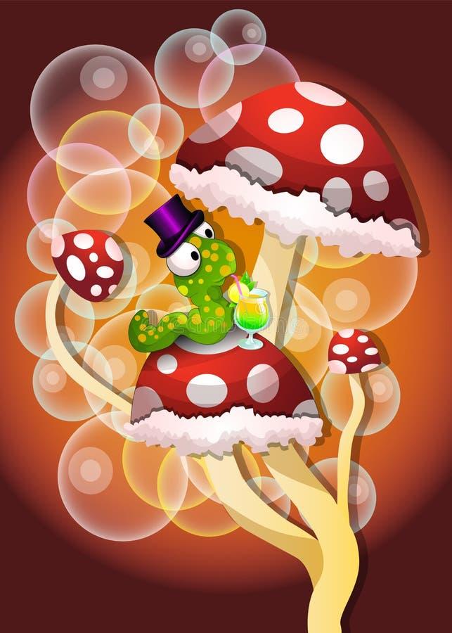Champignons de couche, illustration illustration stock