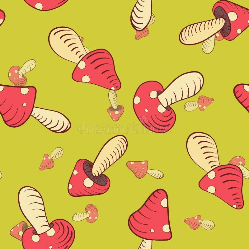 Champignons en Pea Soup illustration libre de droits