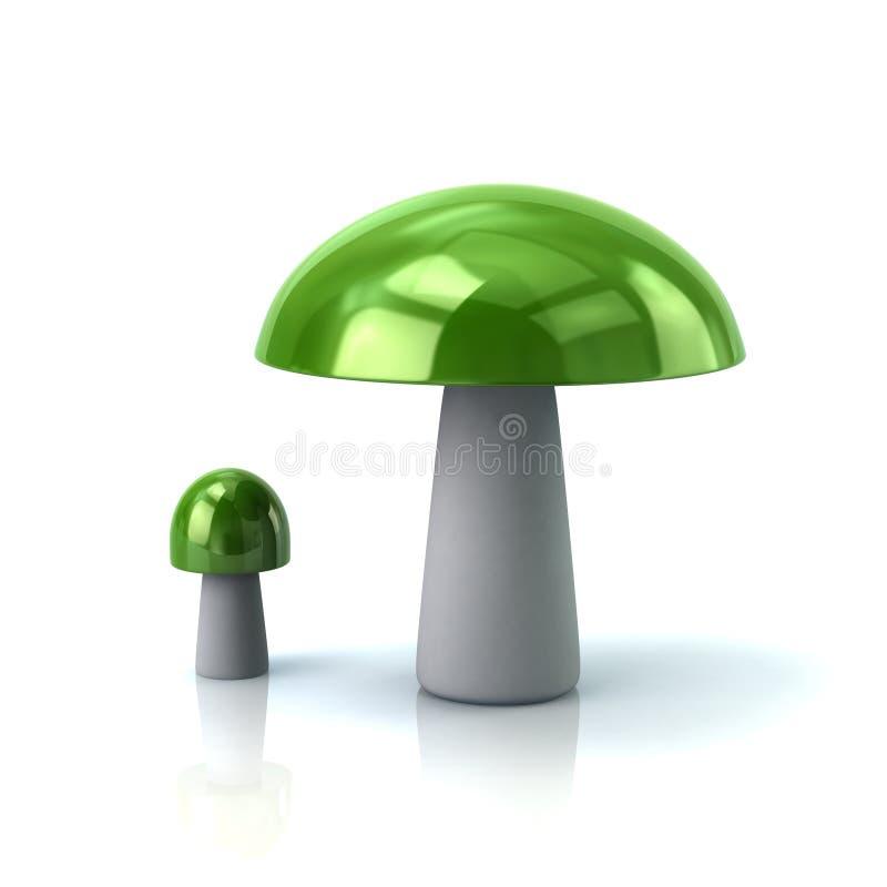 Champignons verts illustration de vecteur