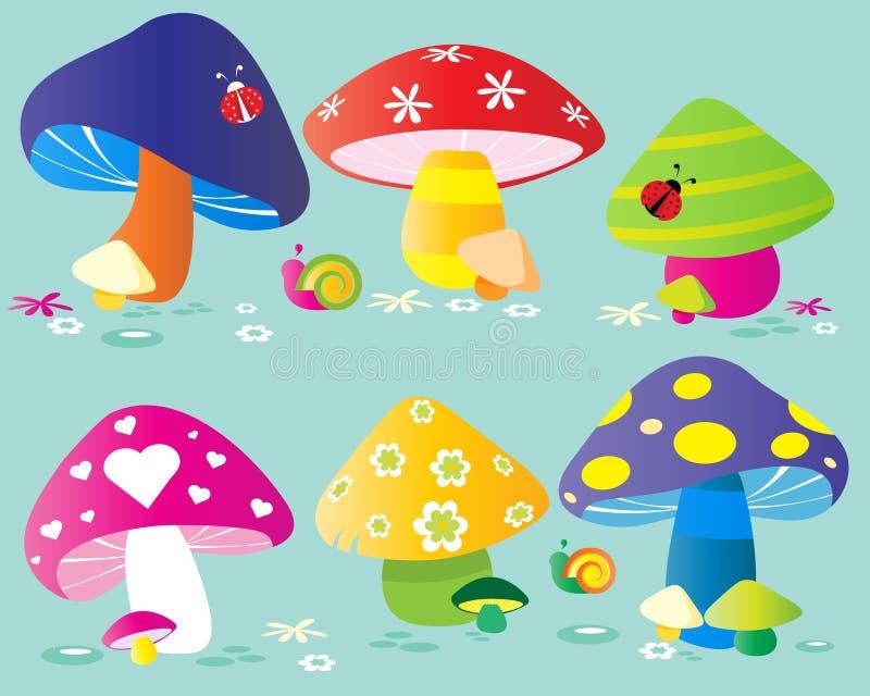 champinjoner stock illustrationer