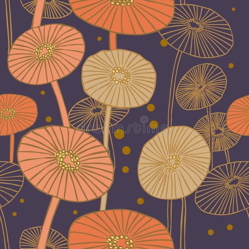 champinjoner mönsan seamless vektor illustrationer