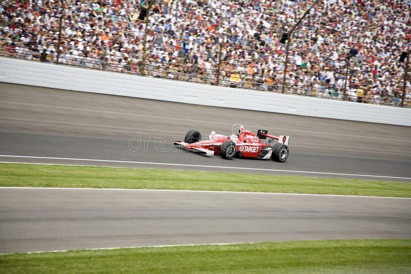 Champion 2008 d'Indy 500 Scott Dixon photo libre de droits
