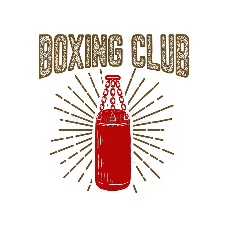 Champion Boxing Club. Emblem Template With Boxer Punching