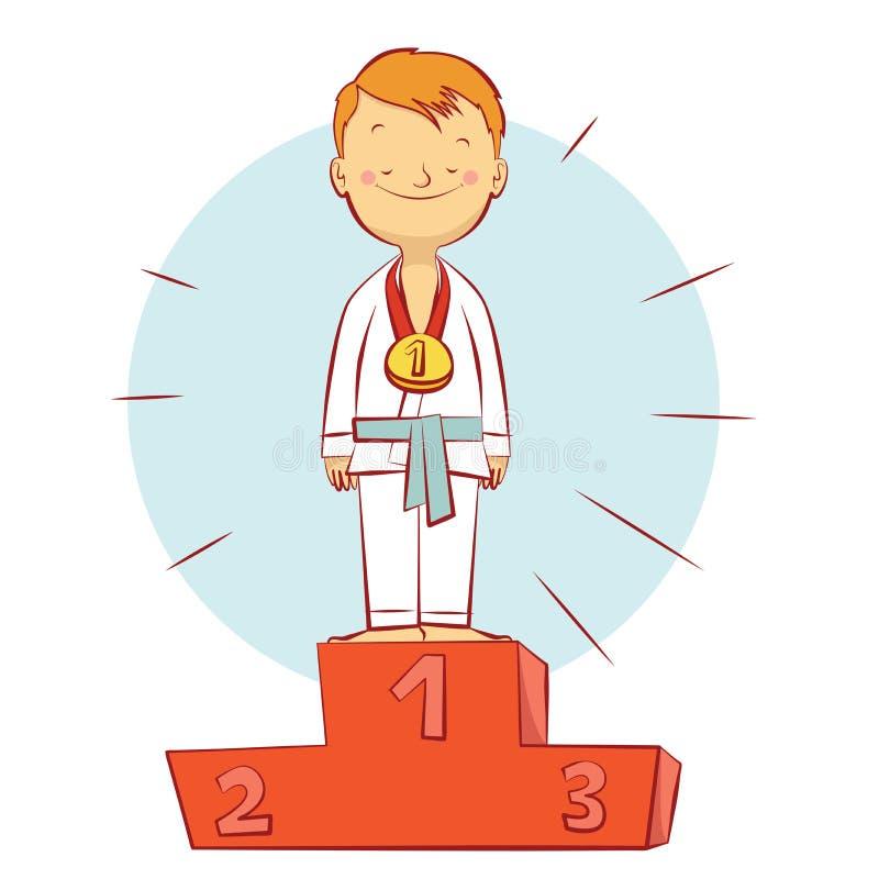 Champion d'arts martiaux illustration de vecteur