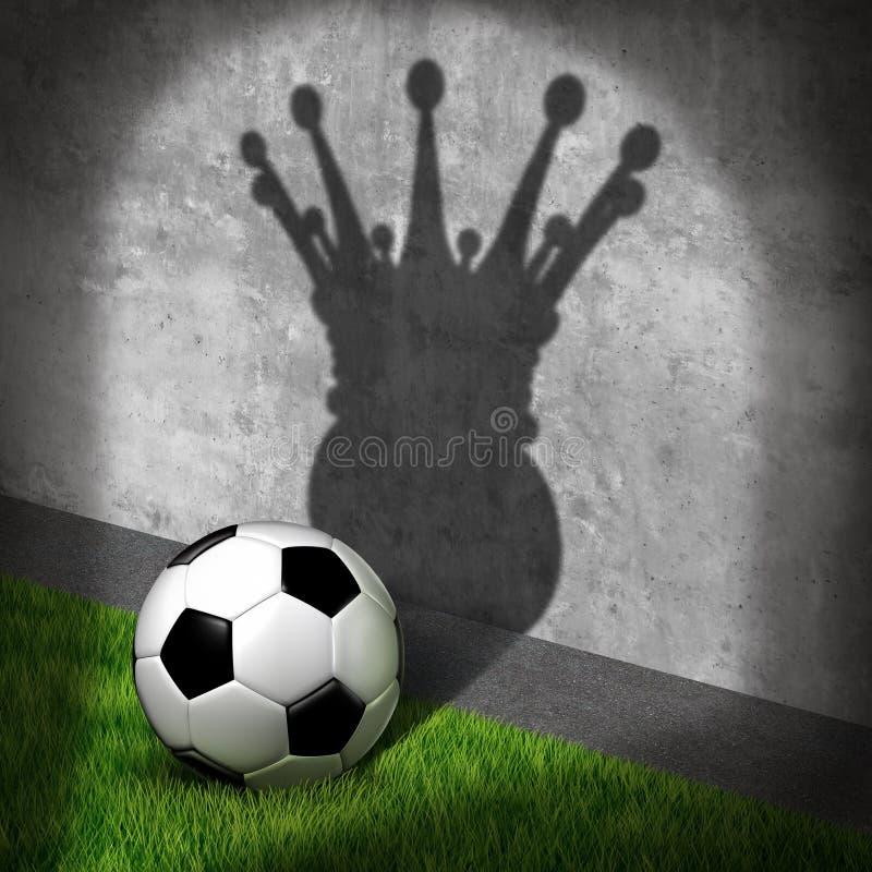 Champion du football et gagnant du football illustration stock
