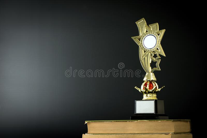 Download Gold Trophy On Black Stock Photo Image Of Reward Winner