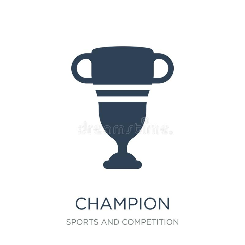 Champion icon in trendy design style. champion icon isolated on white background. champion vector icon simple and modern flat. Symbol for web site, mobile, logo stock illustration