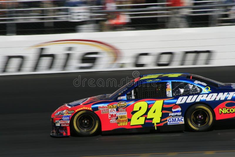 Champion Jeff Gordon de NASCAR photo libre de droits