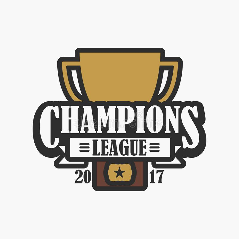 Champion league sports logo design of emblem with trophy cup download champion league sports logo design of emblem with trophy cup vector stock altavistaventures Image collections