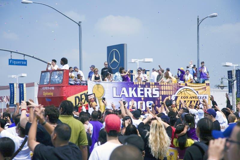 Champion Los Angeles Lakers de 2009 NBA photos stock