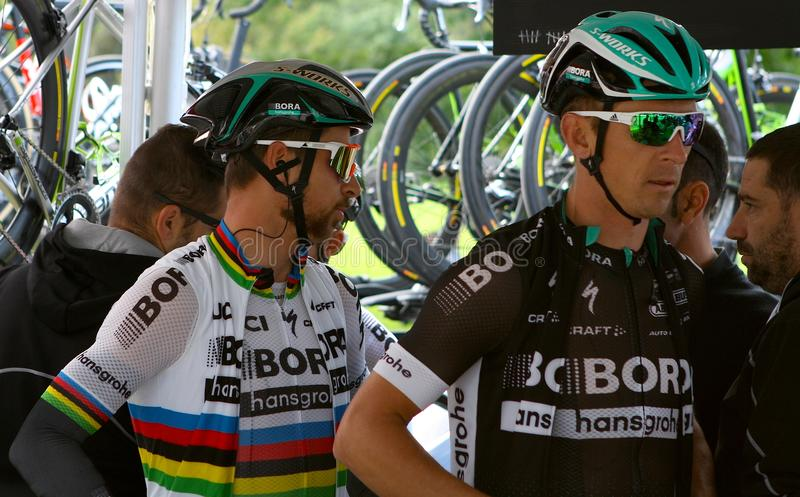 Champion Peter Sagan du monde à Montréal Grand prix Cycliste le 9 septembre 2017 photo libre de droits