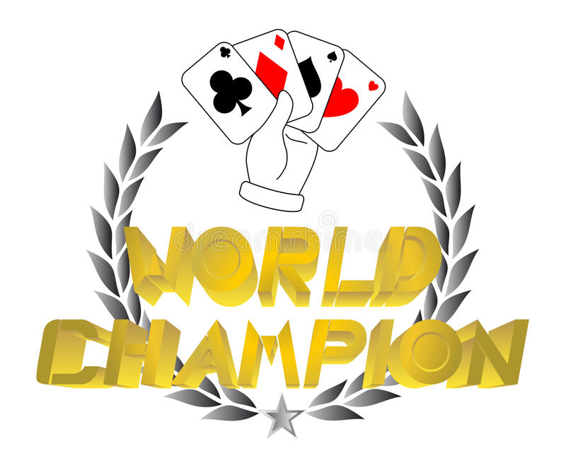 Download Champion poker stock vector. Image of tournament, card - 18771616
