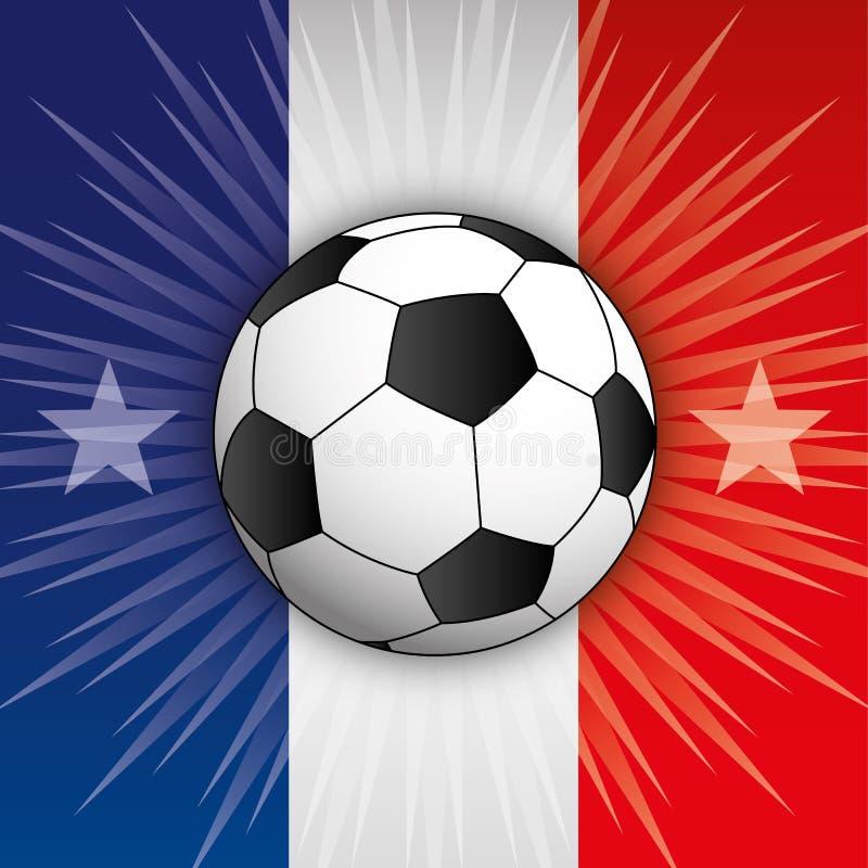 Champion Russie 2018 du monde de Frances, drapeau et symboles illustration stock
