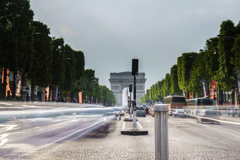 Championen Elysees, Paris stockfotografie