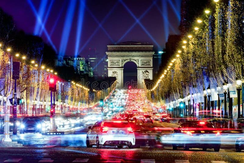 Championen Elysees, Paris, Frankreich stockfotografie