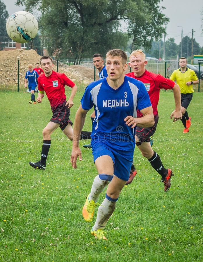Championnat amateur du football dans la région de Kaluga de la Russie photos stock